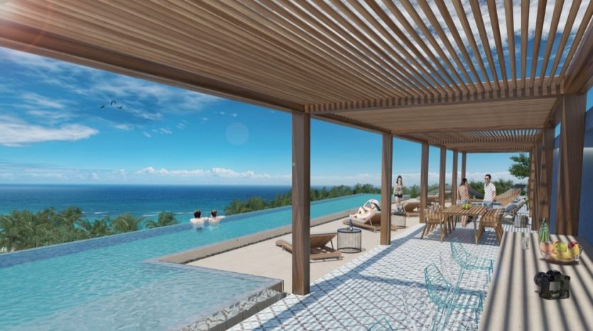 Kaab South Beach Playa del Carmen 2 bedroom penthouse7