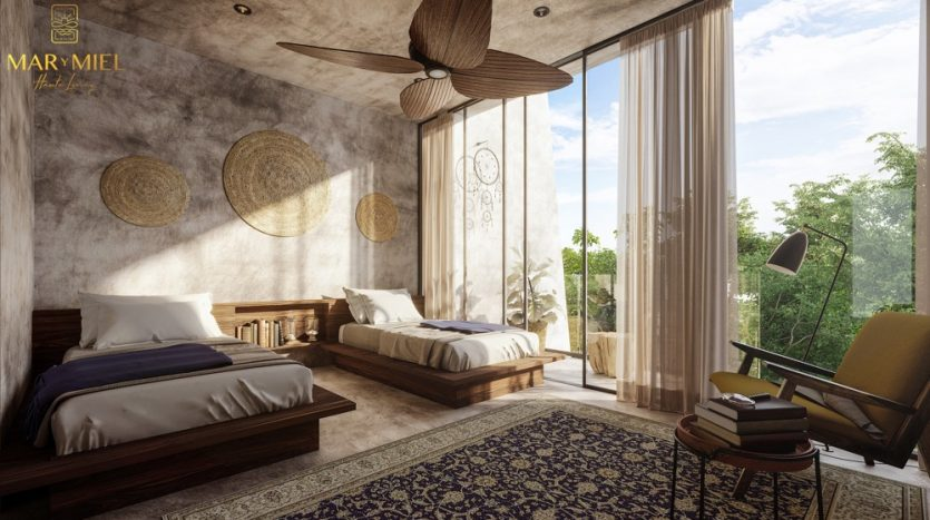 Mar y Miel Tulum 2 bedroom condo5