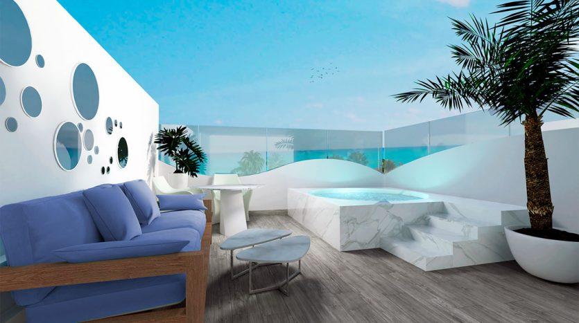 mare playa del carmen 1 bedroom penthouse 4