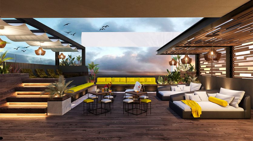 the yellow playa del carmen studio condo 7