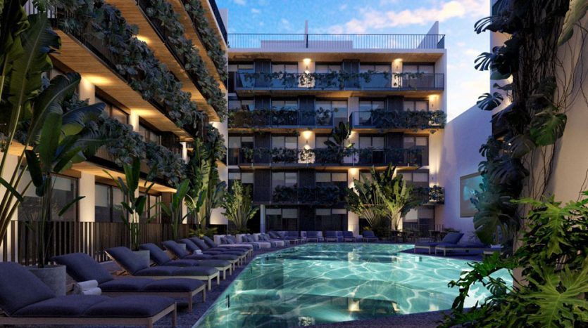 urban towers playa del carmen 1 bedroom condo 1