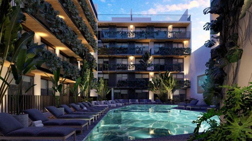 urban towers playa del carmen 1 bedroom penthouse 1