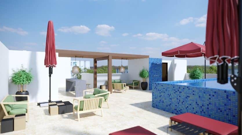 953 studio playa del carmen 1 bedroom penthouse 6