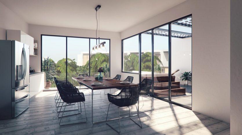 Central Park Lagunas Tulum studio penthouse9