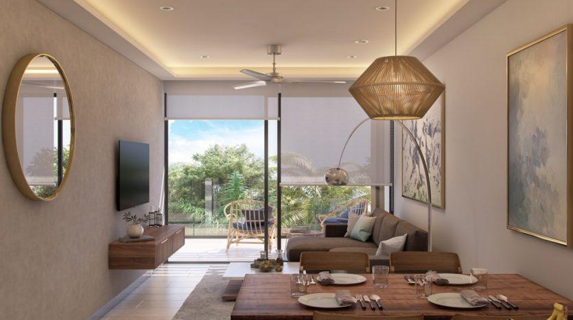 Menesse One Paralia Playa del Carmen 1 bedroom penthouse1