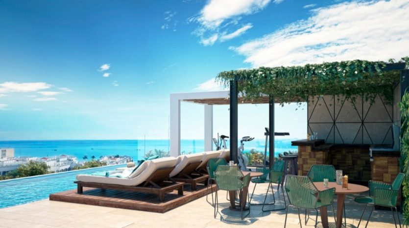 Menesse One Paralia Playa del Carmen 1 bedroom penthouse3