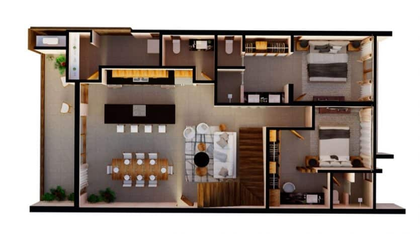 Mirak tulum 2 bedroom condo12
