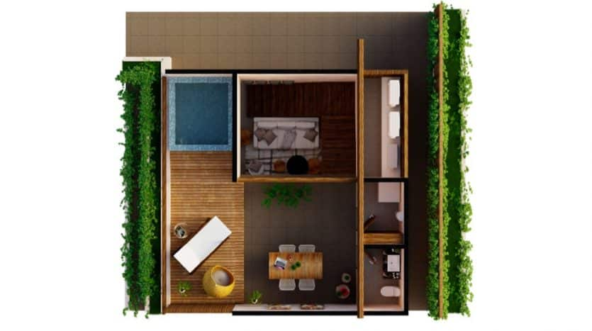 Mirak tulum 2 bedroom condo9