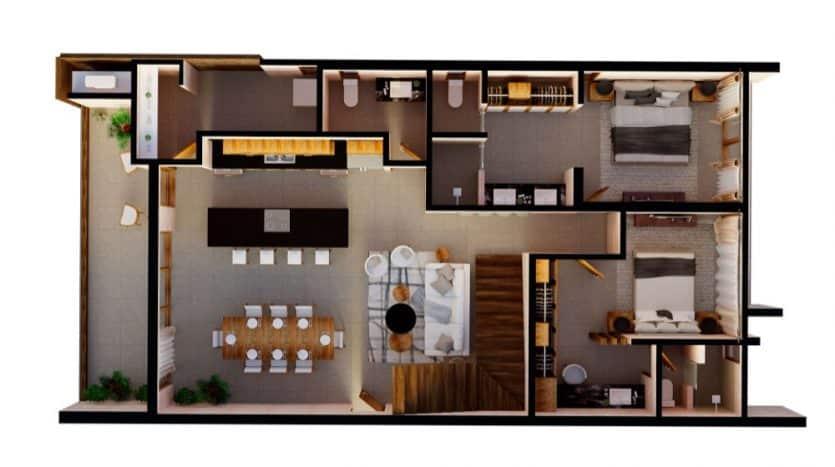 Mirak tulum 2 bedroom penthouse12