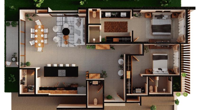 Mirak tulum 2 bedroom penthouse6
