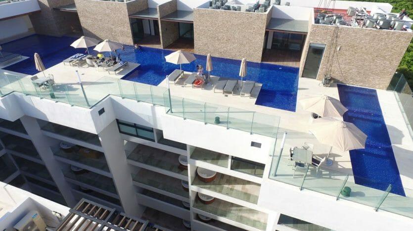 cruz con mar playa del carmen 1 bedroom condo 2 835x467 - Cruz Con Mar 1 Bedroom Condo