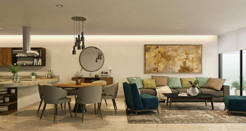 marila playa del carmen 3 bedroom penthouse 1 835x444 - Marila 3 Bedroom Penthouse
