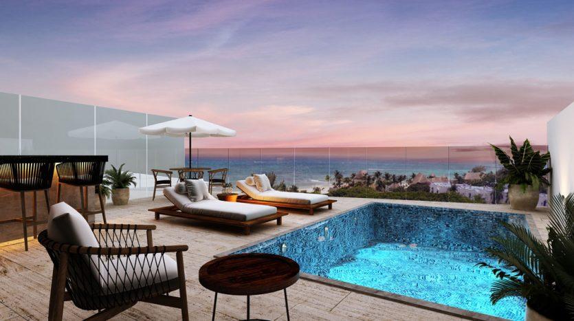 marila playa del carmen 3 bedroom penthouse 16 835x467 - Marila 3 Bedroom Penthouse