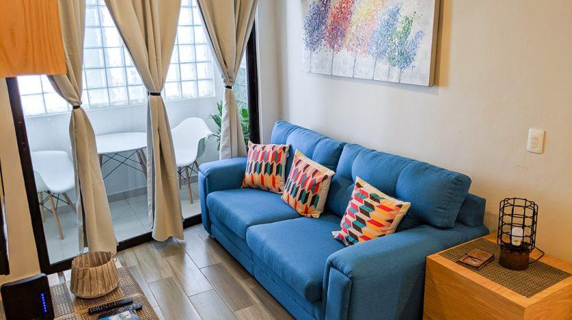 hacienda san jose c3 playa del carmen 2 bedroom condo  005 835x467 - Hacienda San Jose 1 Bedroom + Studio