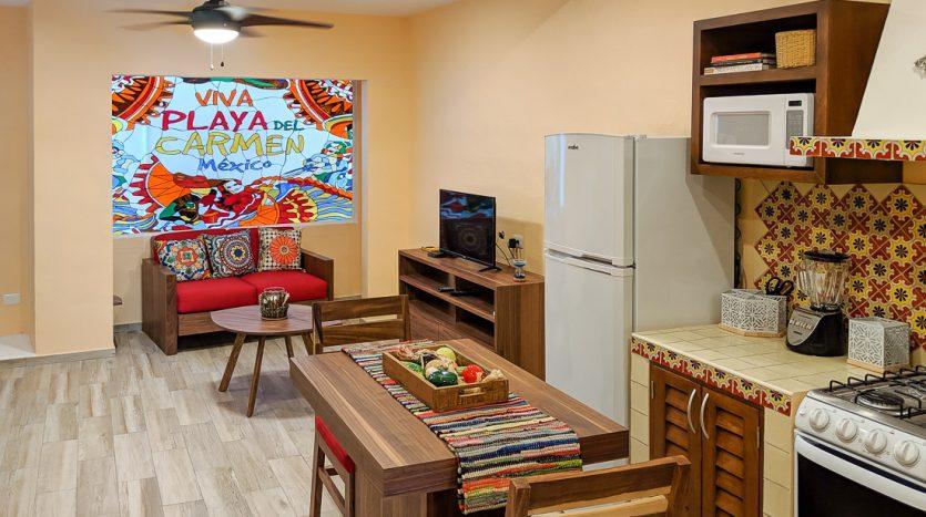 hacienda san jose c3 playa del carmen 2 bedroom condo  012 835x467 - Hacienda San Jose 1 Bedroom + Studio
