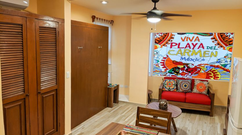 hacienda san jose c3 playa del carmen 2 bedroom condo  016 835x467 - Hacienda San Jose 1 Bedroom + Studio