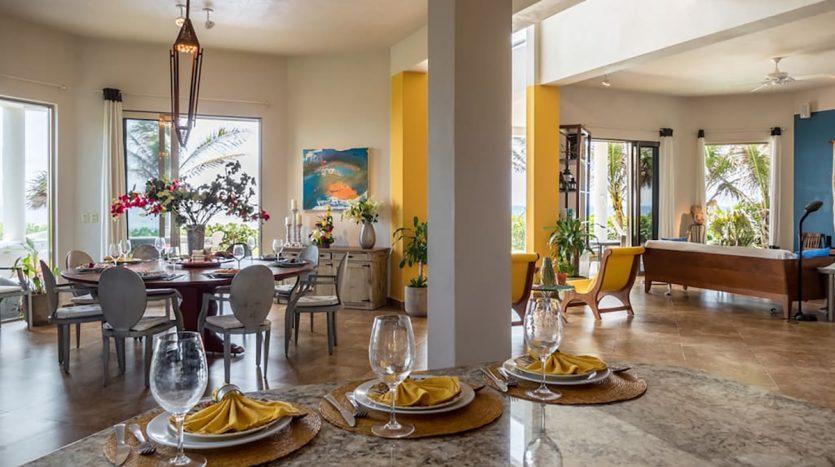 villa puerta azul beach front home akumal 3 835x467 - Villa Puerta Azul