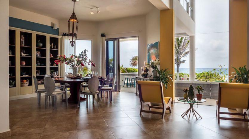 villa puerta azul beach front home akumal 4 835x467 - Villa Puerta Azul