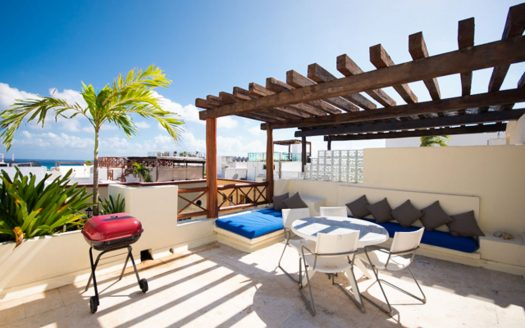 las olas 2 bedroom penthouse playa del carmen 1 525x328 - Las Olas 2 Bed Penthouse