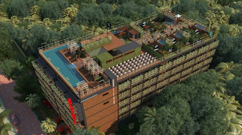 la residencia 1 bedroom condo playa del carmen 11 835x467 - La Residencia 1 Bedroom Condo