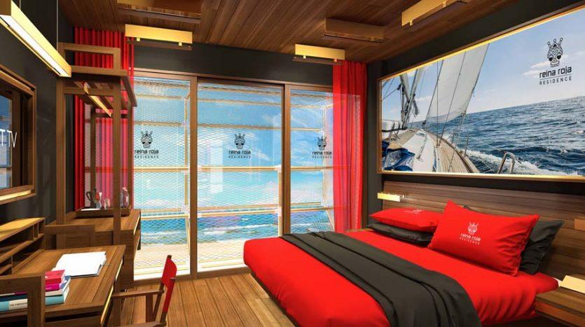 la residencia 1 bedroom condo playa del carmen 7 835x467 - La Residencia 1 Bedroom Condo