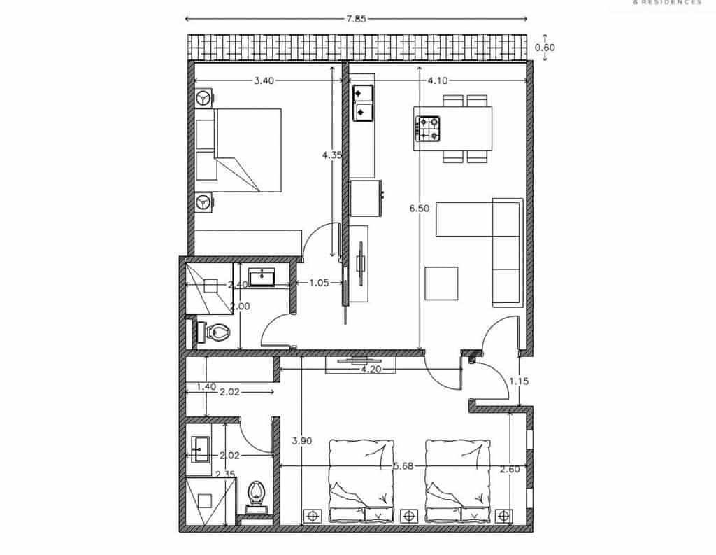 IT Hotel Condo 304 Floor Plan