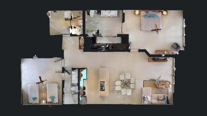 mareazul playa del carmen 2 bedroom condo 9 835x467 - Mareazul 2 Bed Condo