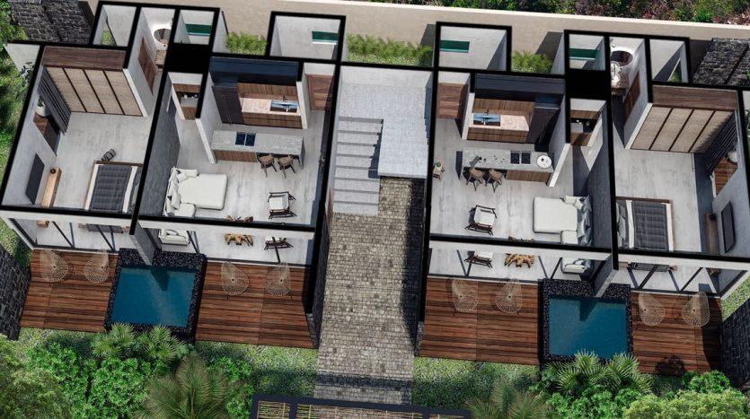 xik condos region 15 tulum 6 835x467 - Xik 1 Bedroom Condo