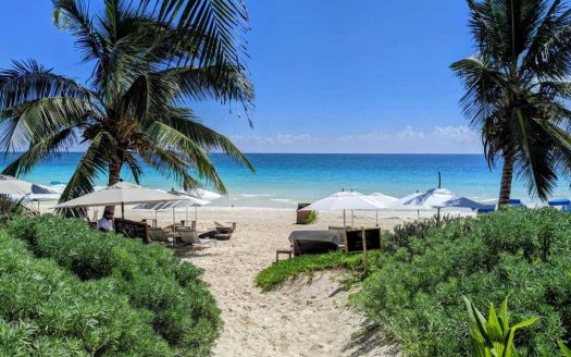 View of the Beach in Tulum